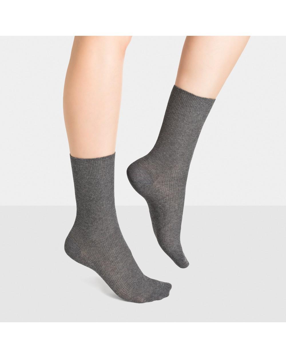 Chaussettes coton non comprimantes