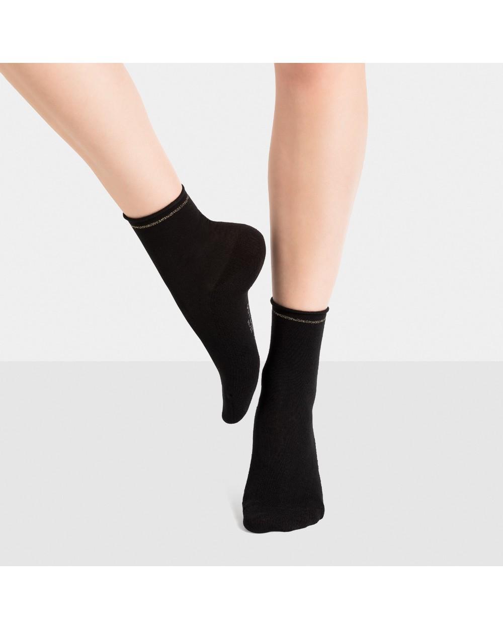 Chaussettes courtes semelle confort unies