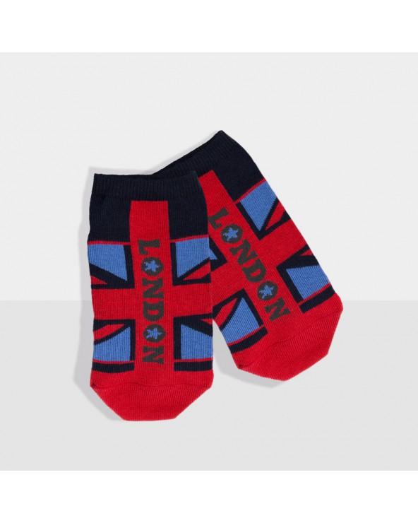 Socquettes coton motif union jack