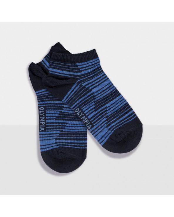 Socquettes coton rayées