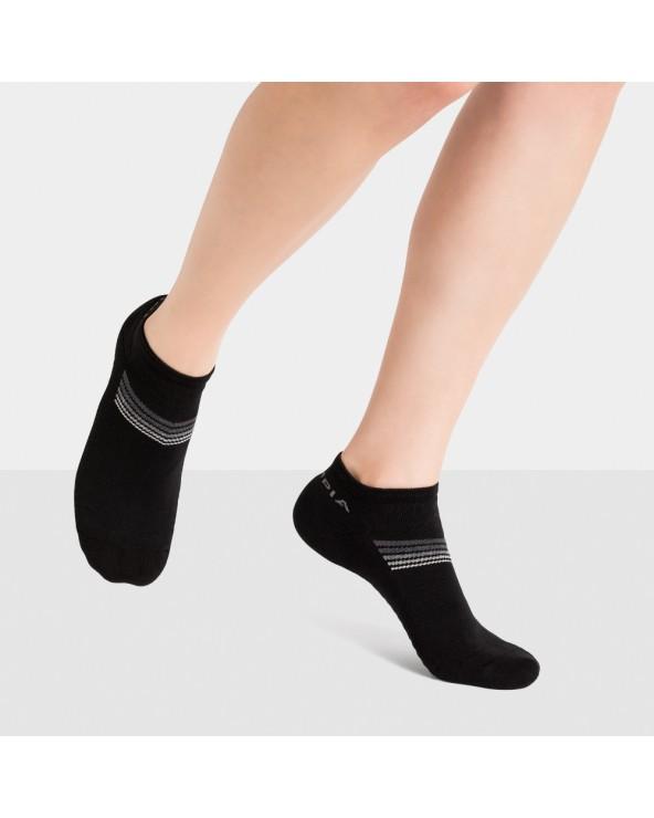 Socquettes sport coton à bandes