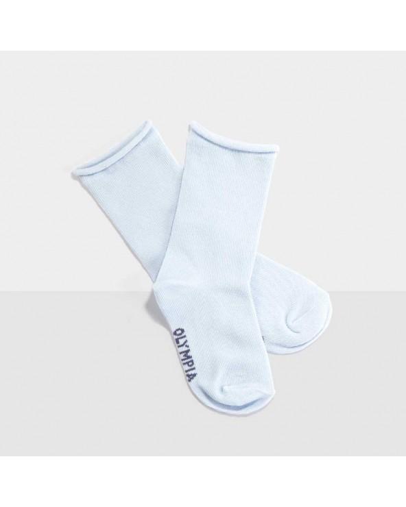 Chaussettes coton biologique bord roulé