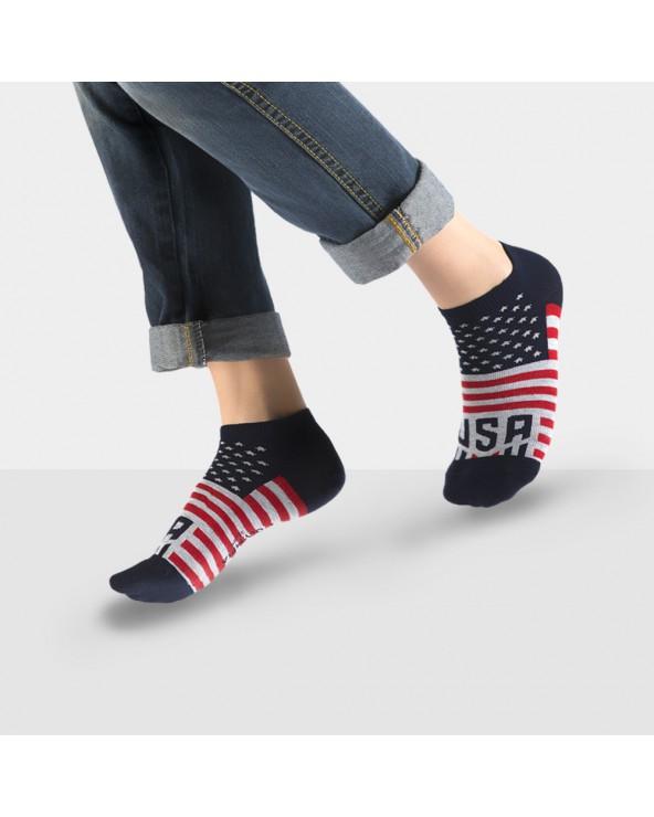 Socquettes coton motif usa