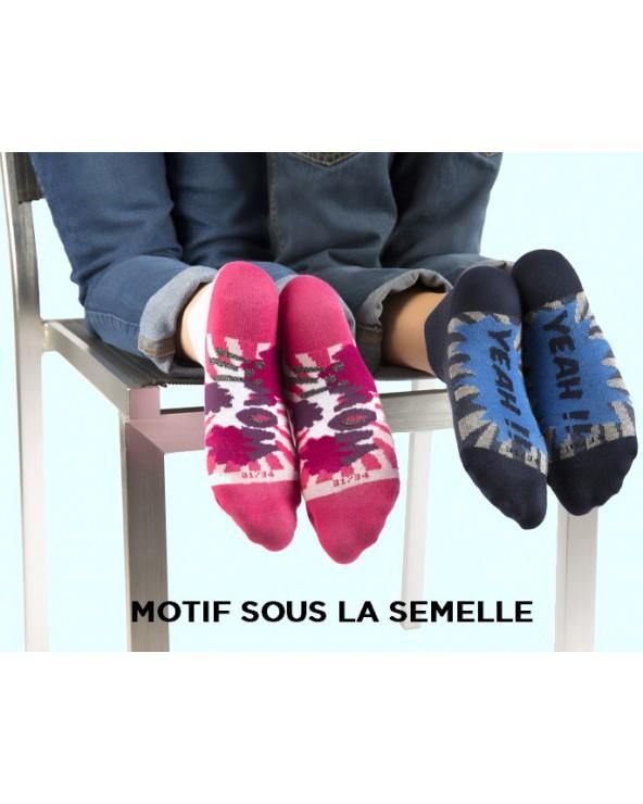 Socquettes coton motif yeah