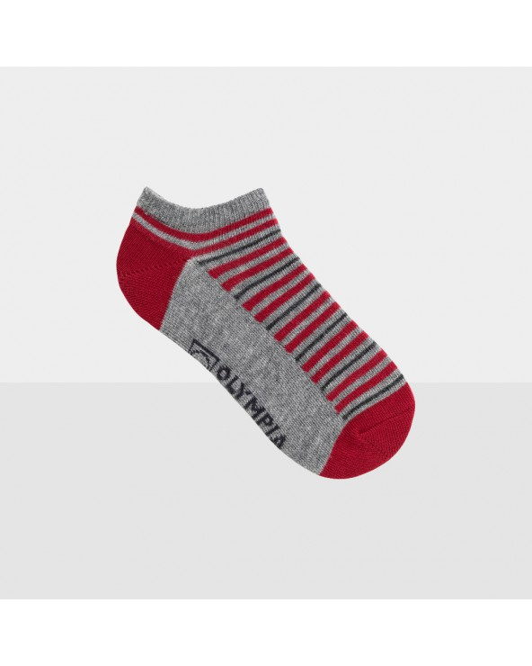 Socquettes rayées coton entretien facile