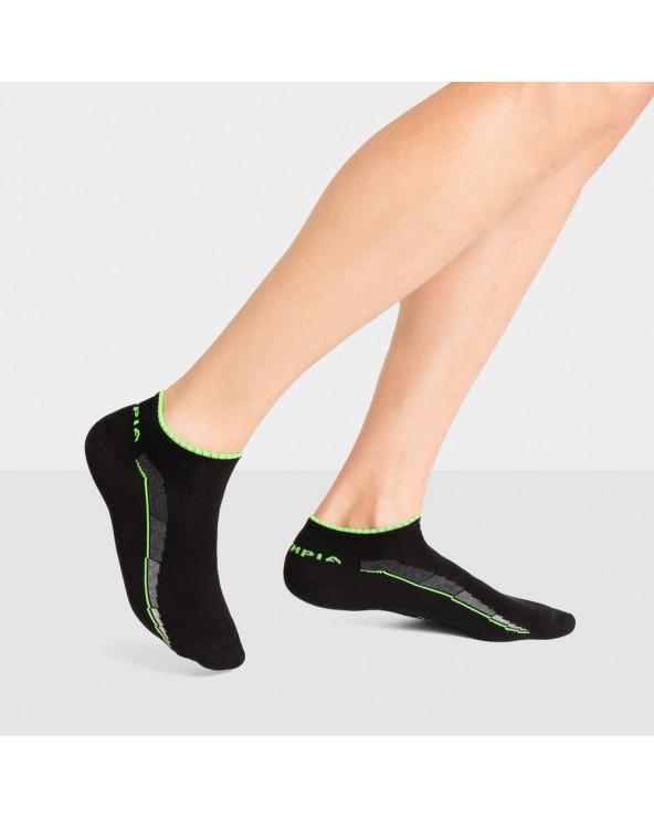 """Socquettes sport coton motif """"ligne dynamique"""""""