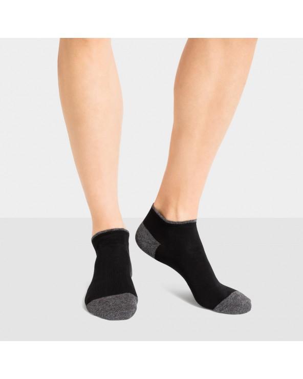 Socquettes coton talon/pointe bicolores