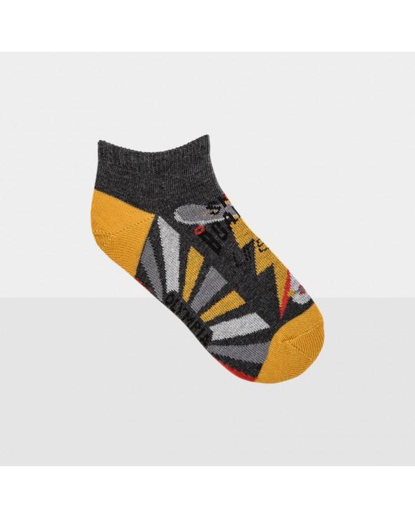 Chaussettes invisibles coton motif trapèzes