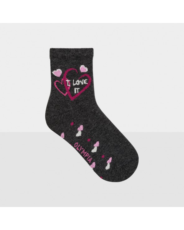Chaussettes coton motifs cœurs