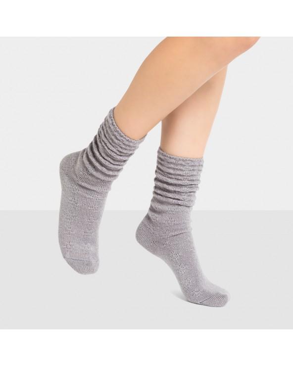 Chaussettes unies aux bords roulés