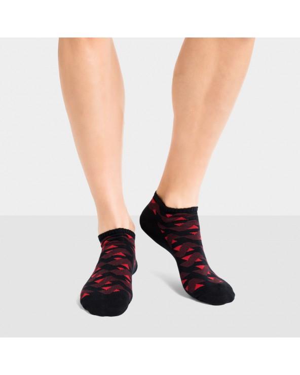 Socquettes coton motif graphique