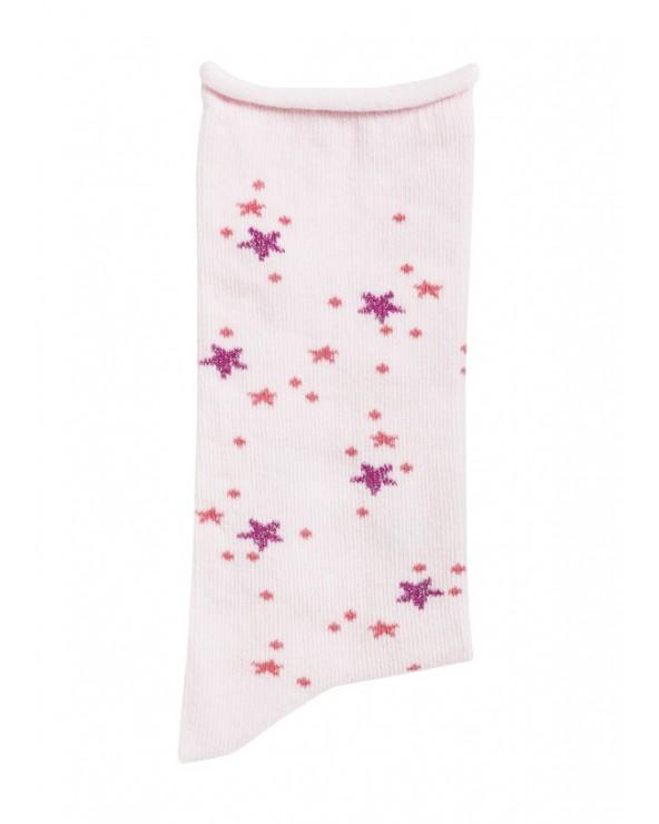 Mi-bas coton biologique motifs étoiles