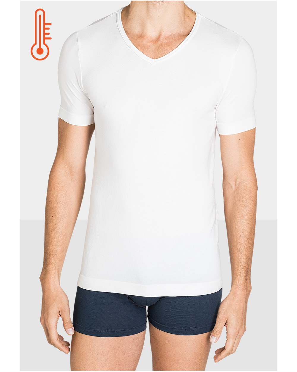 T-shirt Homme Col V Ultra Chaud Jersey