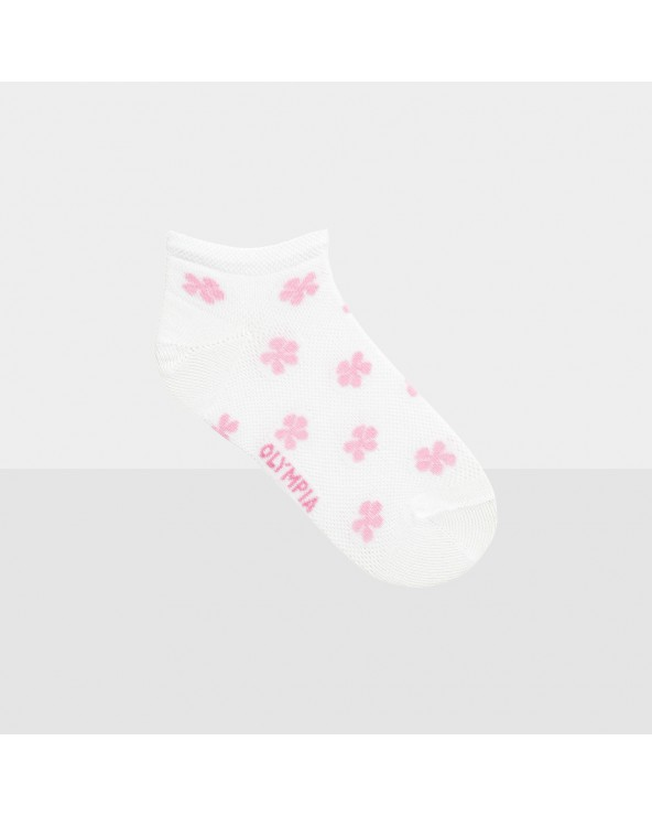 Socquettes coton motifs fleurs