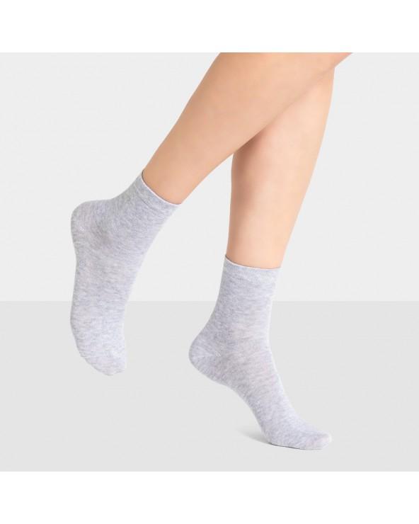 Chaussettes courtes coton unies
