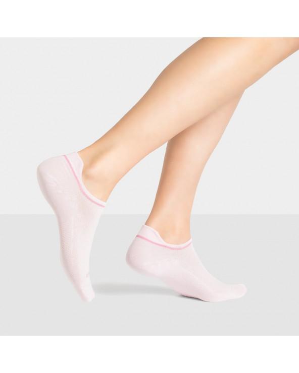 Socquettes coton unies languette fine
