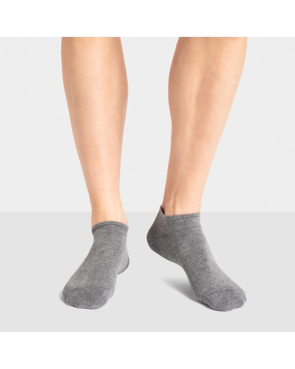 Socquettes coton unies