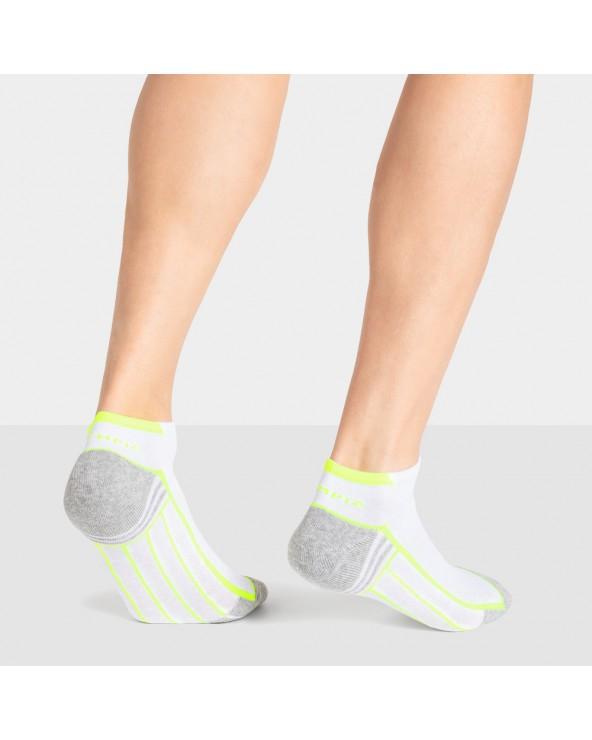 Socquettes coton sport motifs lignes