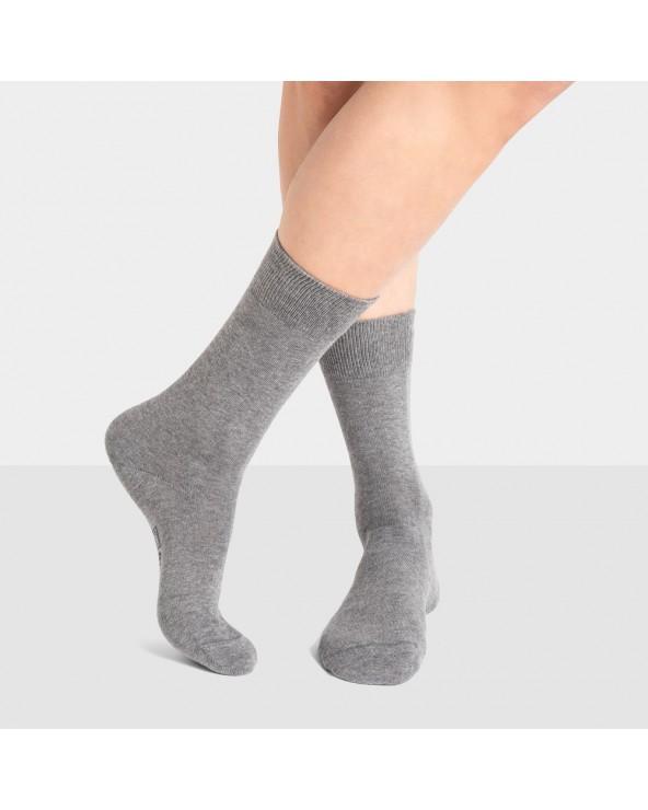 Chaussettes coton unies