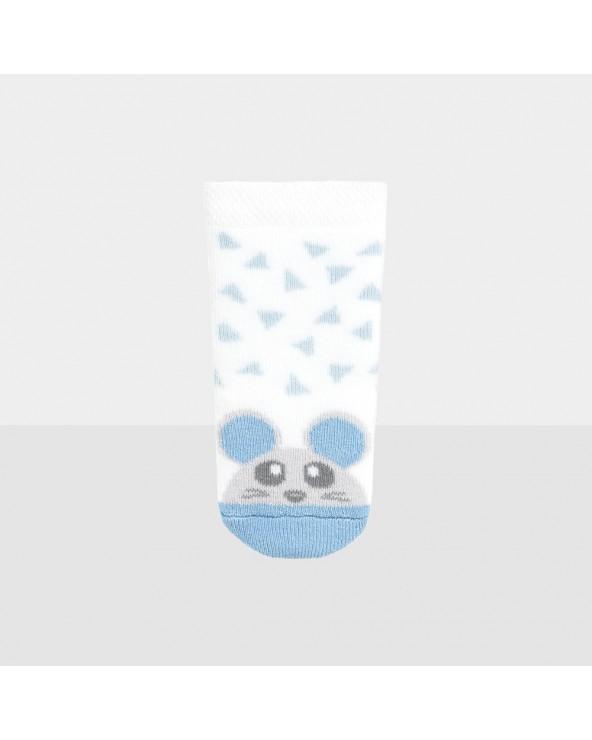 Chaussons coton bio motifs souris