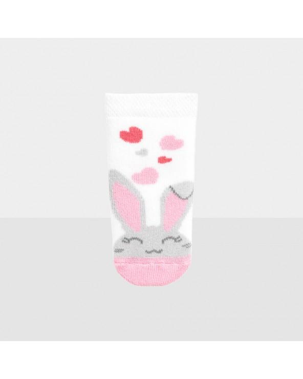 Chaussons coton bio  motifs lapins