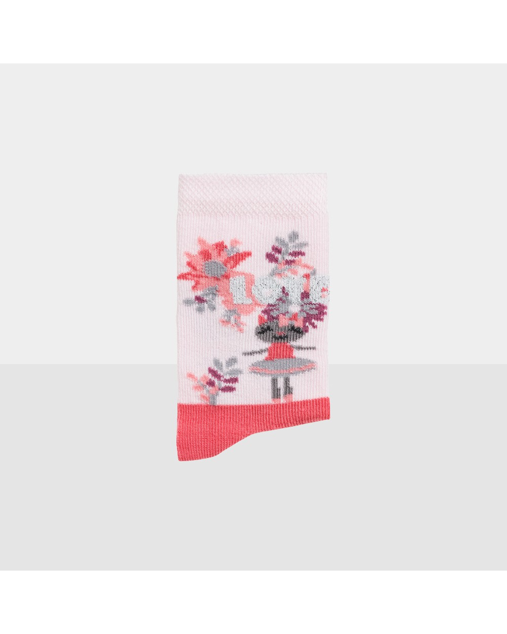 Chaussons coton bio motif danseuse