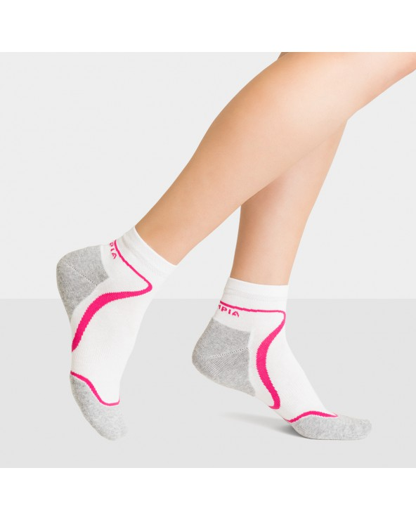 Chaussettes courtes sport coton semelle confort