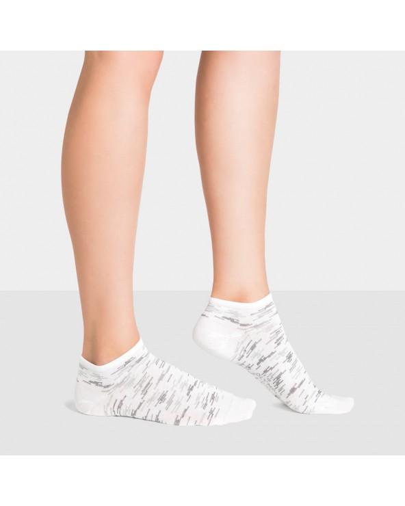 Socquettes coton motif stries