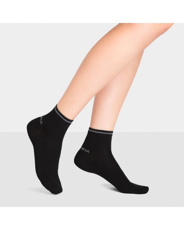 Chaussettes courtes sport coton liseré