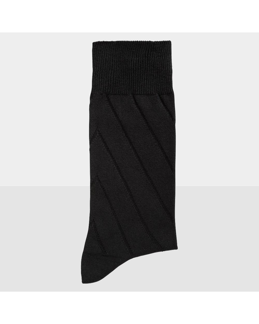 Chaussettes coton motif diagonales