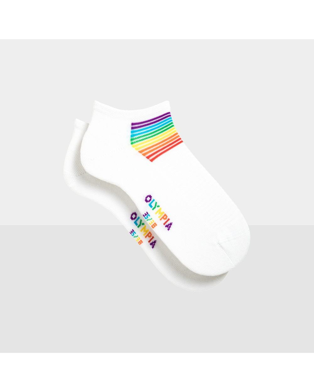 Chaussettes fille invisibles rainbow