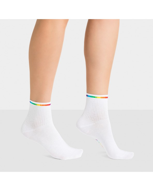 Socquettes coton rainbow