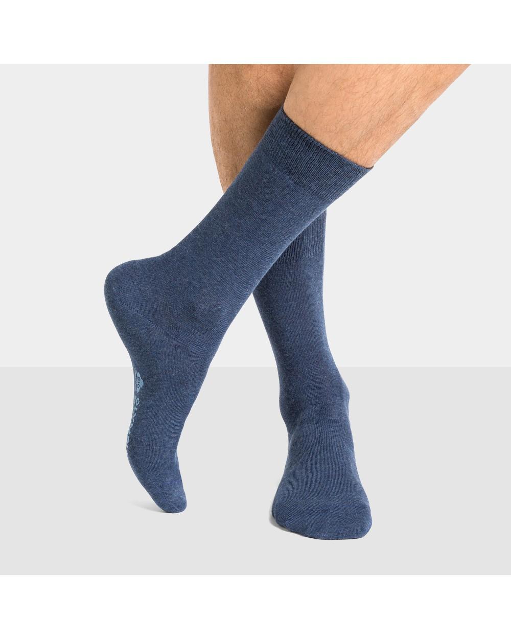 Chaussettes coton bio unies