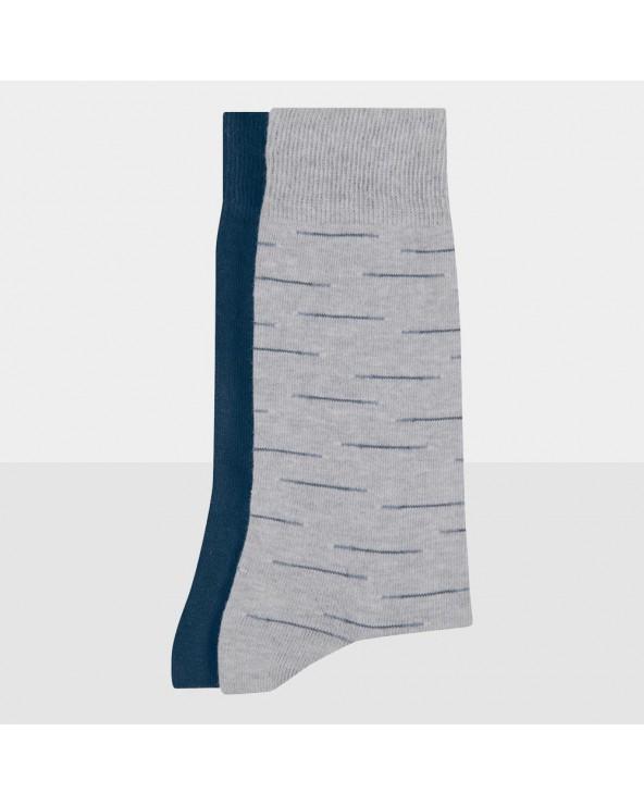 Chaussettes Coton Bio Rayures Décalées