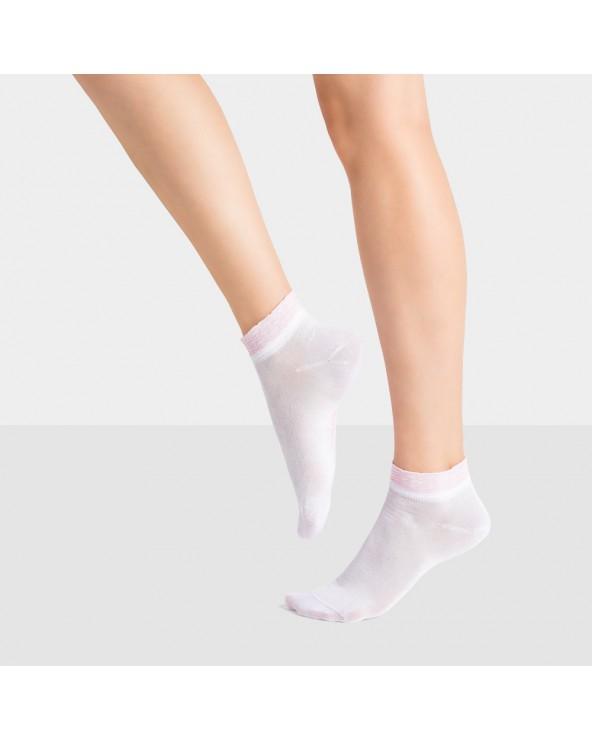 Socquettes Fil d'Ecosse à Rayure