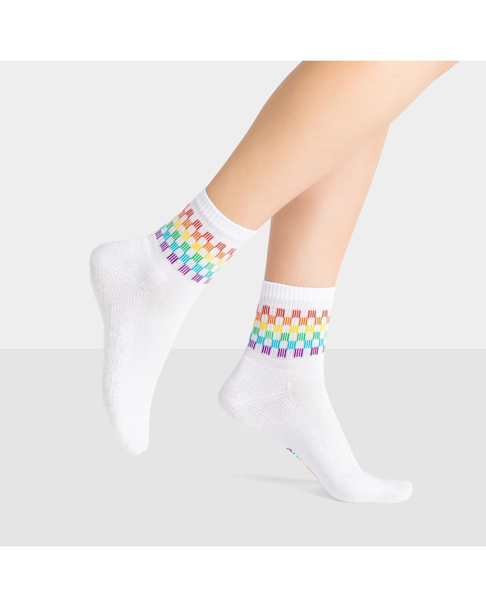 Chaussettes Coton Sport Motif Rainbow