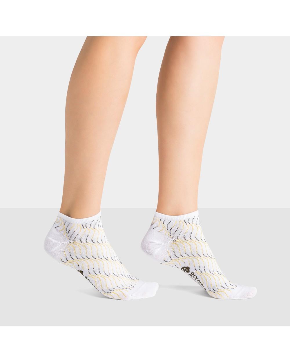 Socquettes Coton Bio Motif Vagues