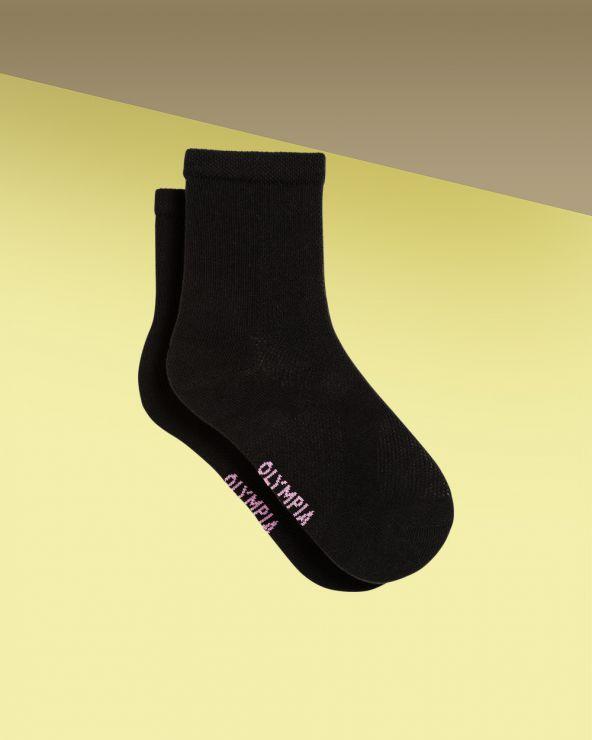 Chaussettes courtes coton sport effet de mailles