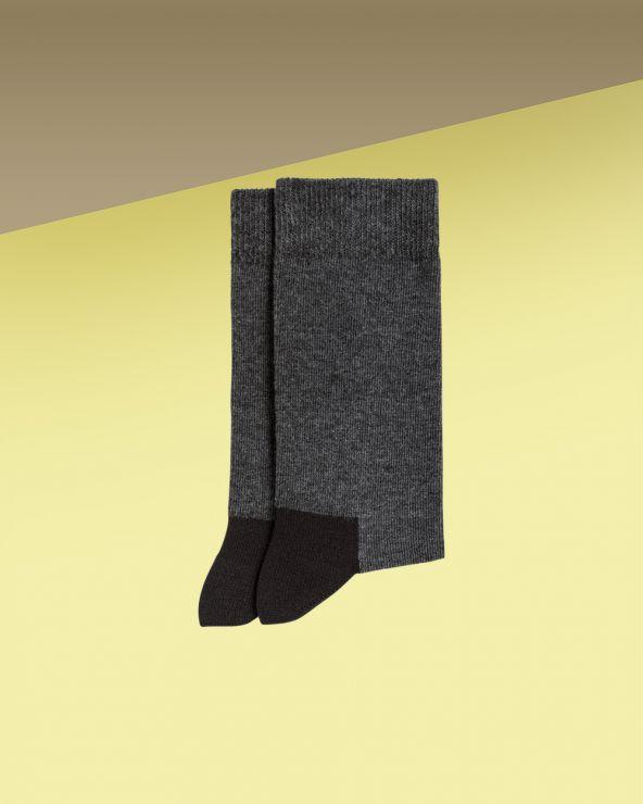 Chaussettes coton bicolores