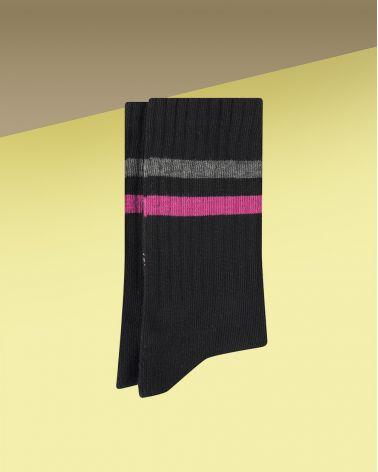 Chaussettes Coton de Sport à Bandes