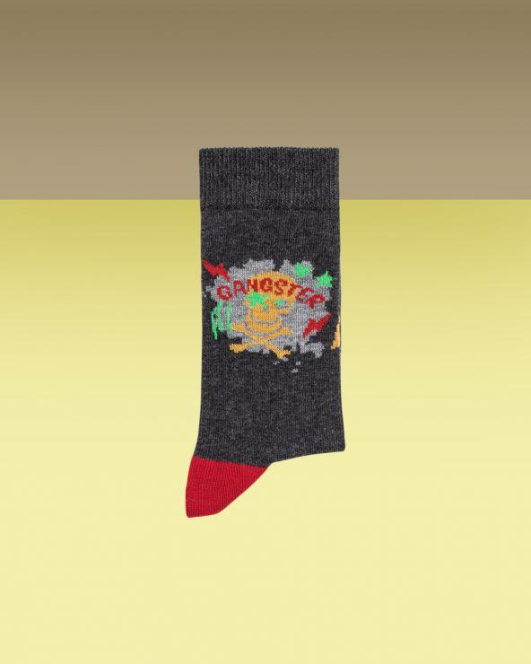 Chaussettes coton motif ganster
