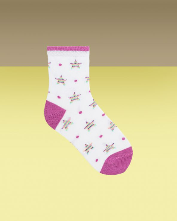 Chaussettes Courtes Motif Girly