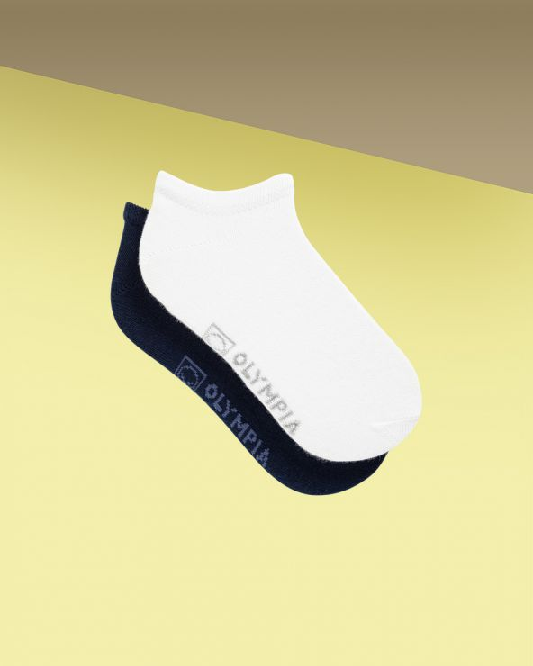 Socquettes fille coton unies entretien facile