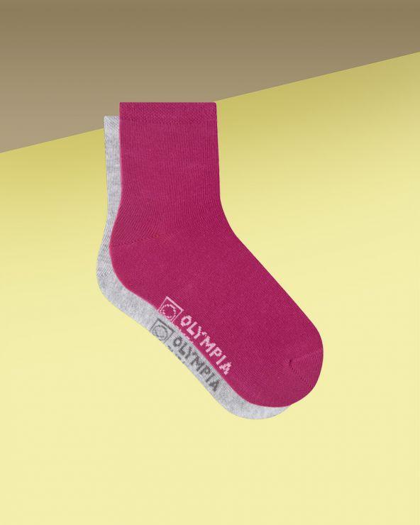 Chaussettes fille coton unies entretien facile