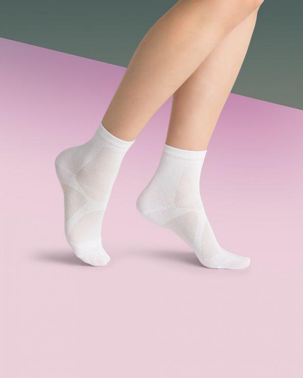 Chaussettes courtes sport unies