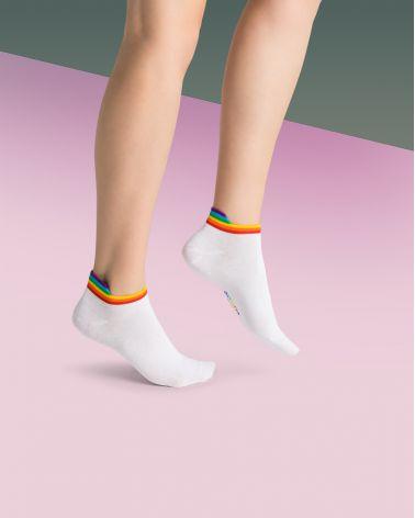 Chaussettes invisibles coton rainbow
