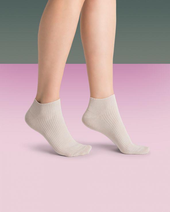Chaussettes invisibles coton non comprimantes