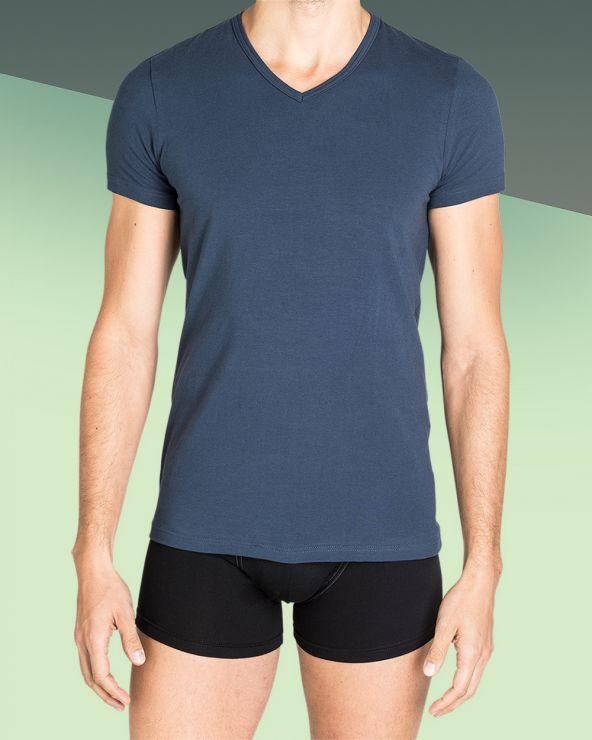 T-shirt Homme Col V Jean