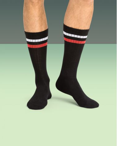 Chaussettes hautes coton sport mode