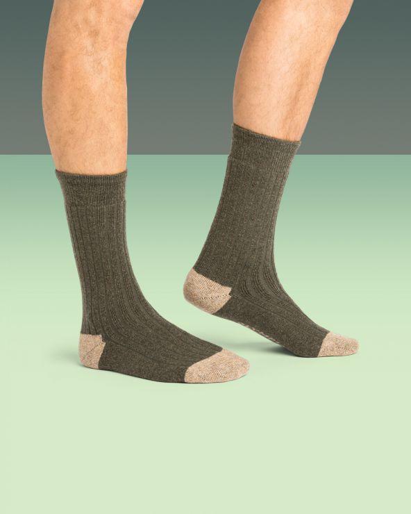 Chaussettes Laine à côtes